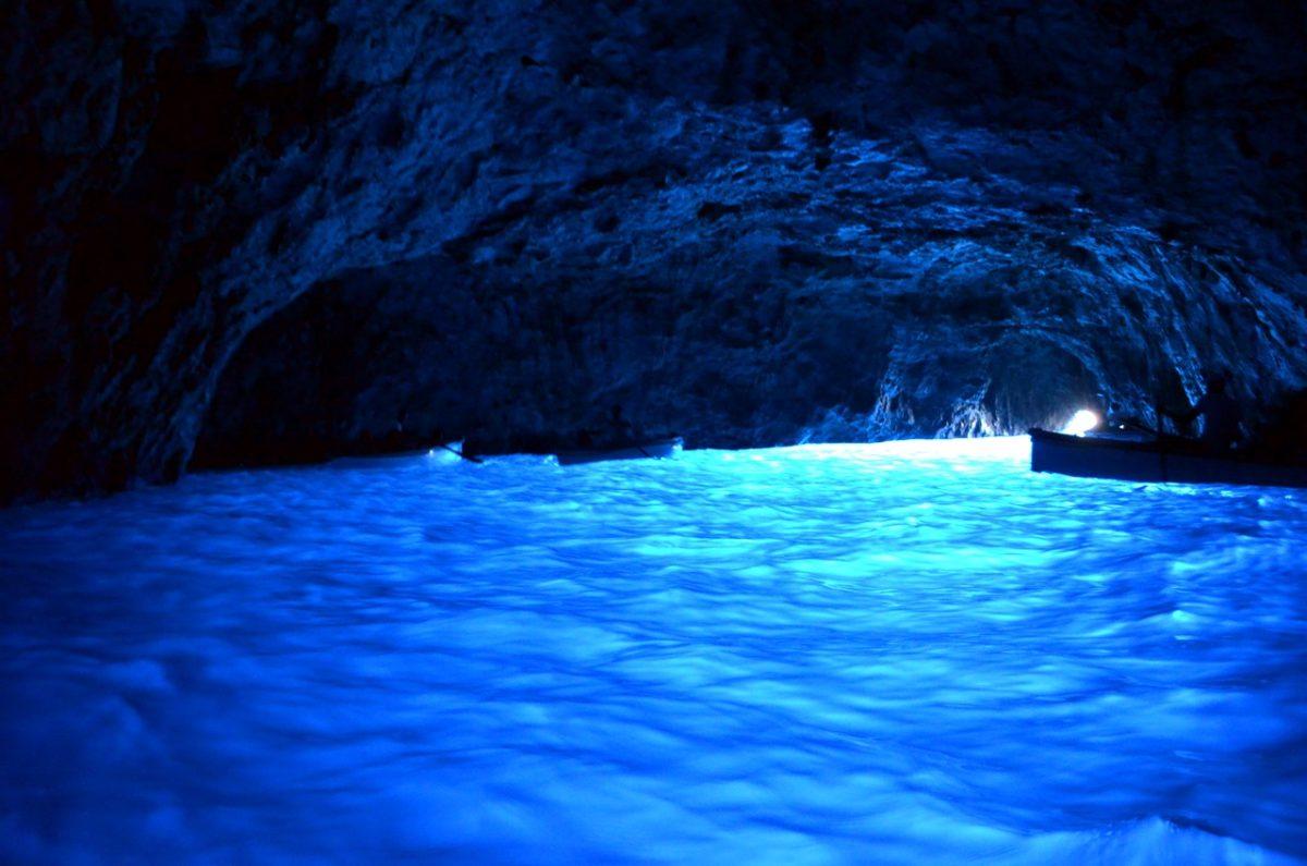 Interior de la Gruta Azul de Capri