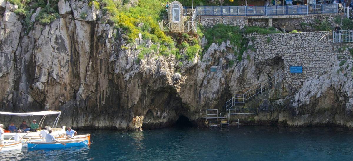 Entrada a la Gruta Azul de Capri